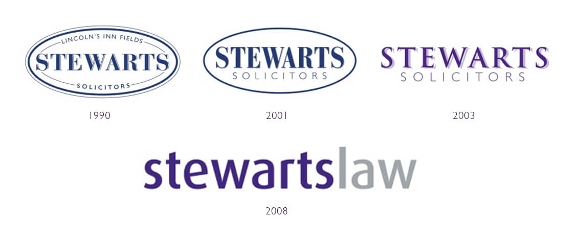 Progression of the Stewarts logo