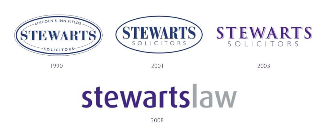 Progression of the Stewarts logo