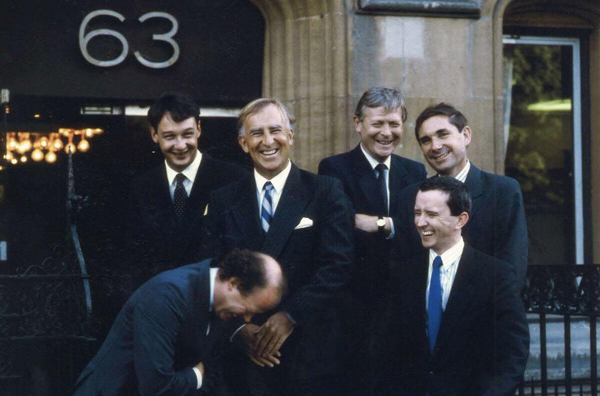 Stewarts' founding partners outside 63 Lincoln's Inn Fields
