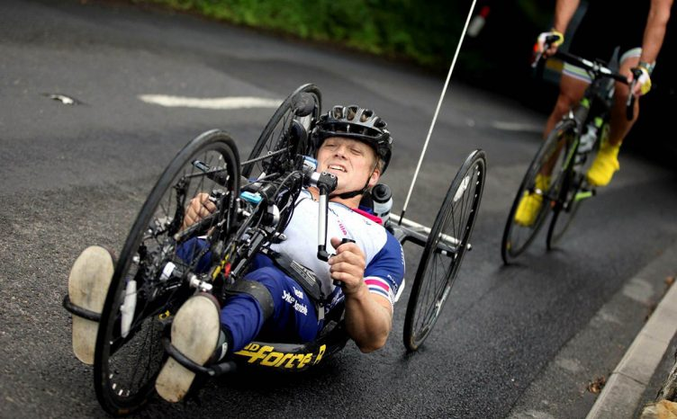 Danny Turnbull on handcycle