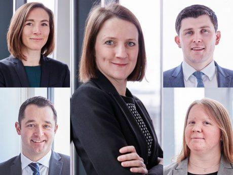 Lucy Ward, Laura Jenkins, Martin Walsh, Stuart Carson and Carly Kinch