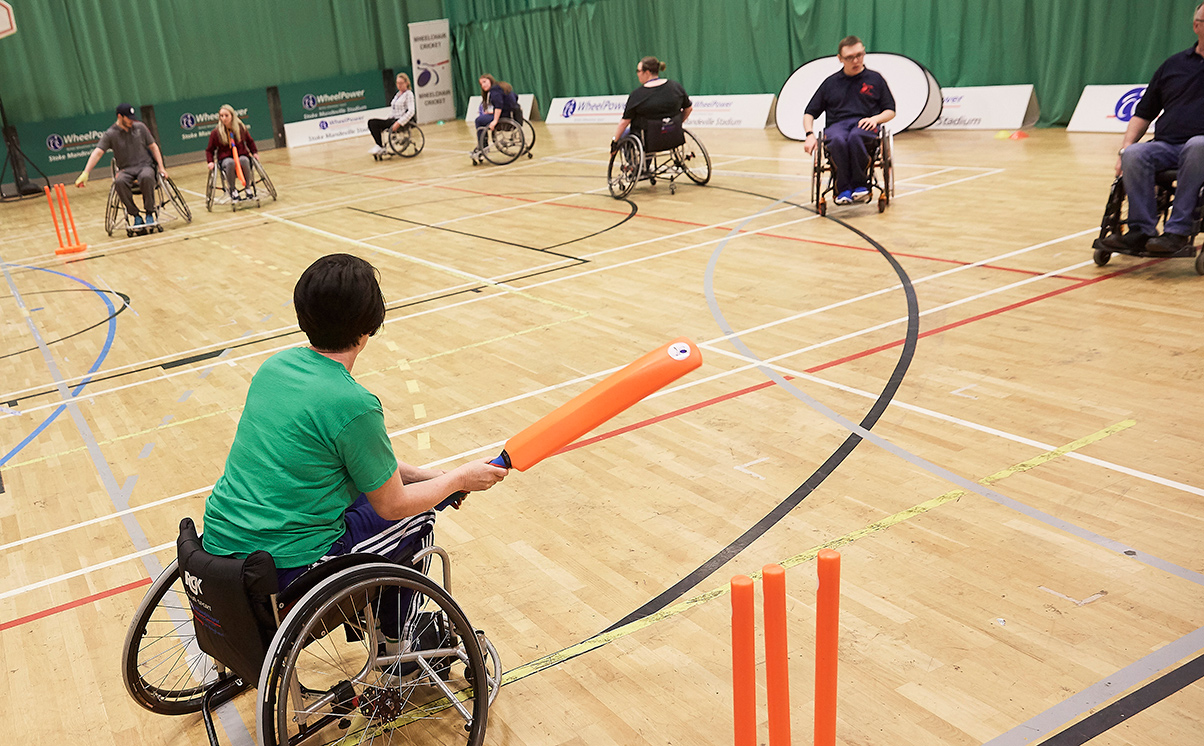 Cricket at Wheelpower Games 2018