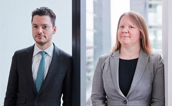 David Pickstone and Carly Kinch - Citywealth Future Leaders List top 100 2018