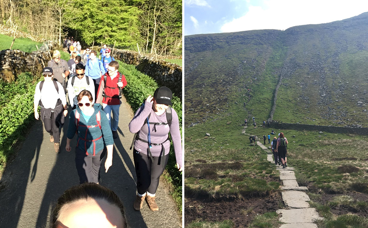 Start and Finish of Yorkshire 3 Peaks