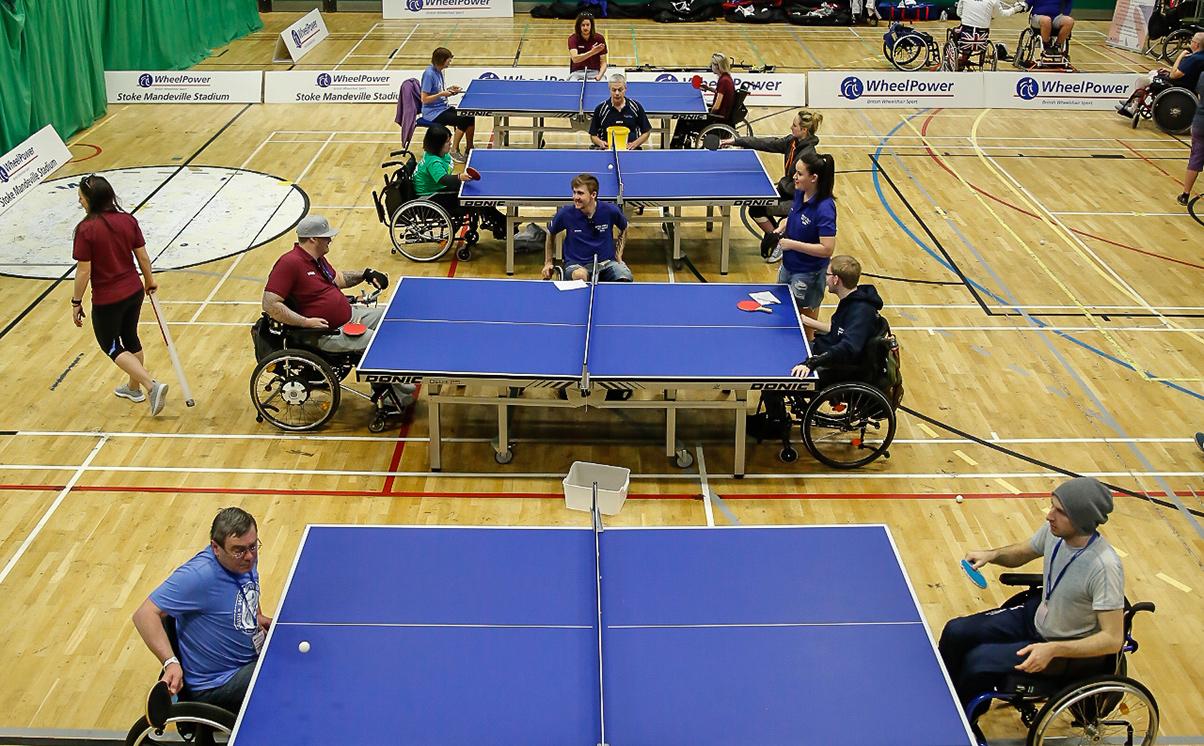 Table Tennis at Wheelpower Games 2018