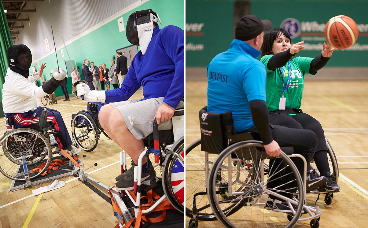Fencing and Basketball at Wheelpower Games 2018