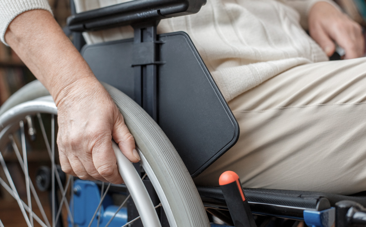Wheelchair user grandmother