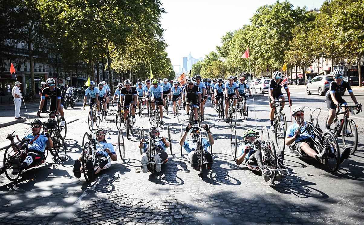 #ridefordanny pelaton arriving in Paris