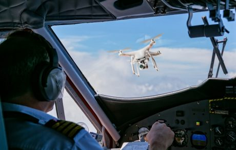 aviation - drone colliding with plane
