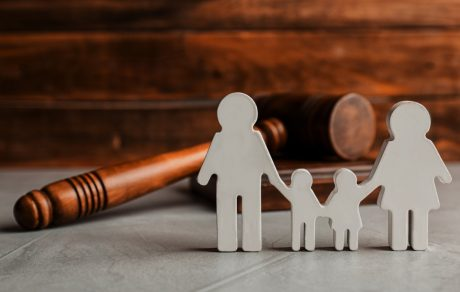 Divorce and Family - Family cut out by Gravel