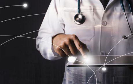 medical - networking doctor tablet