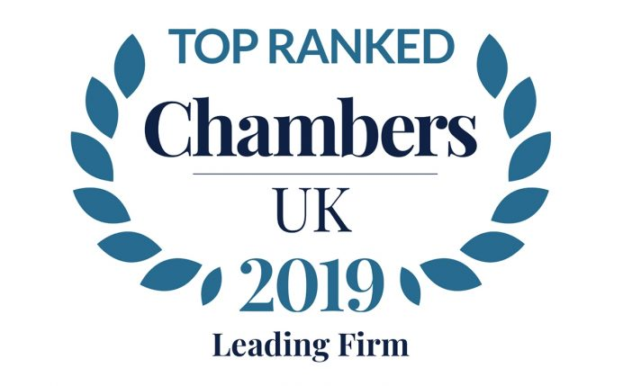 Stewarts Top Ranked Leading Law Firm in Chambers 2019
