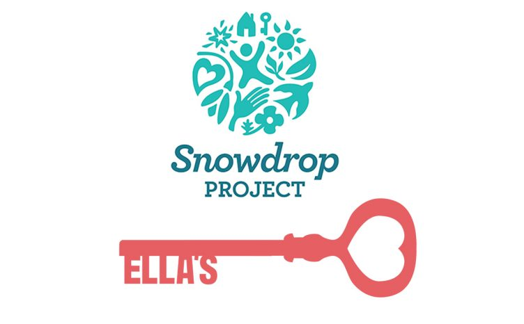 Ella's Home and Snowdrop Project logos - Stewarts' Charity of the Year