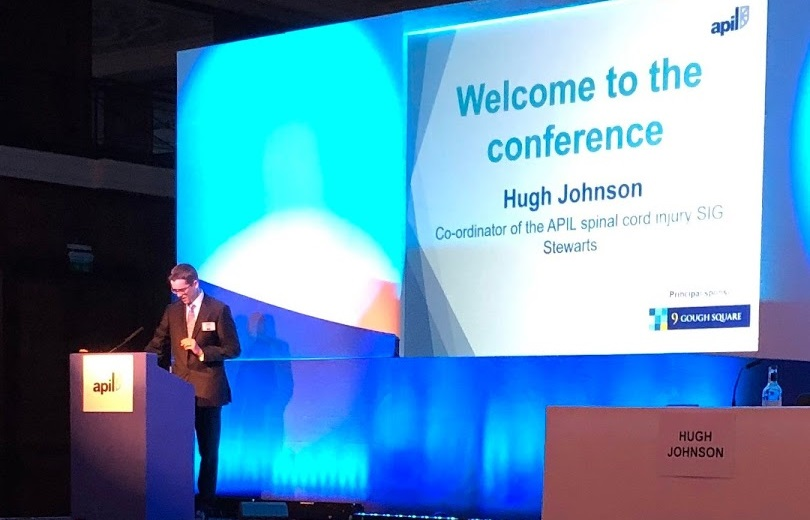 Hugh Johnson, co-ordinator of the APIL spinal cord injury SIG