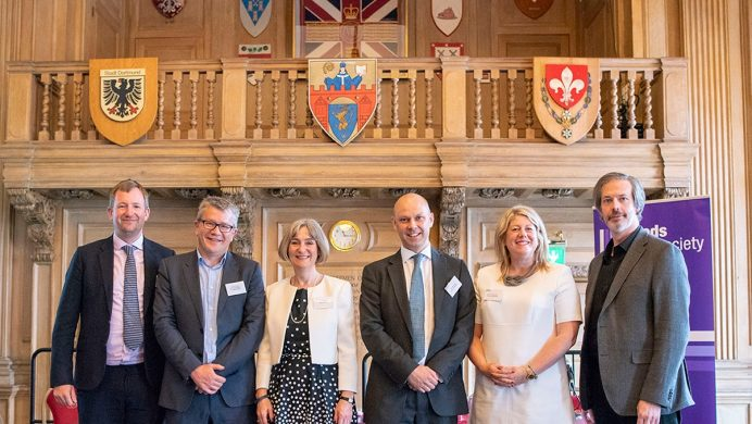 Alistair Maiden, Chris Fowler, Lucy Dillon, Tom Matusiak, Emma Pearmaine (President of Leeds Law Society), Gary Gallen - picture by © Sam Toolsie 2019