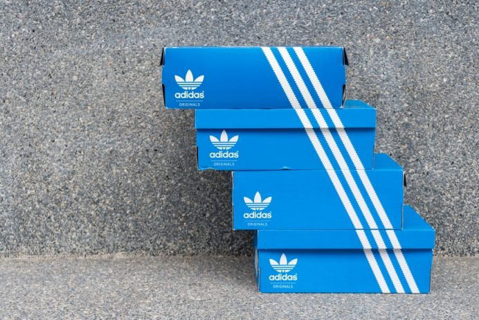 Adidas - stacked shoe boxes