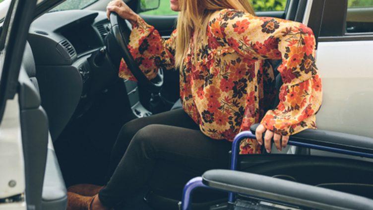Adapted car Wheelchair