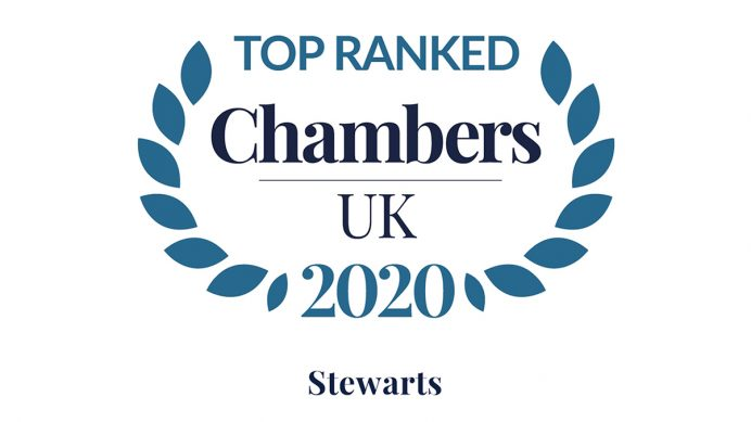 Chambers 2020 Logo - Top Ranked - Stewarts