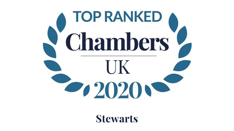 Stewarts achieves outstanding results in the Chambers 2020