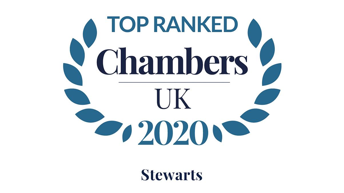 Chambers 2020 Logo - Top Ranked - Stewarts