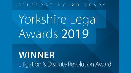 Litigation and Dispute Resolution Winner Logo - Yorkshire Legal Awards