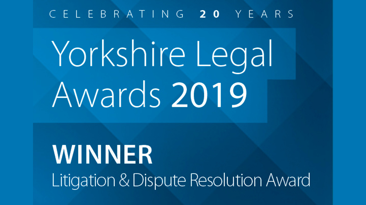 Litigation and Dispute Resolution Winner Logo - Yorkshire Legal Awards