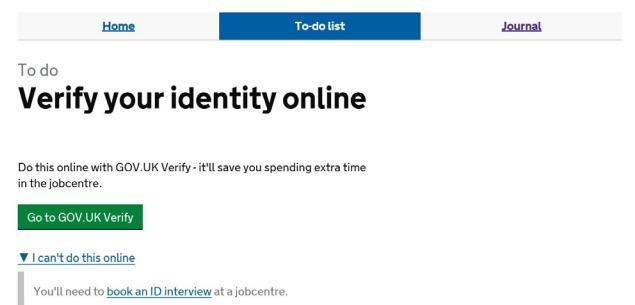 Universal Credit - Verify your identity online