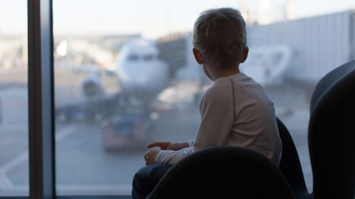 Child at airport
