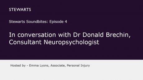 Stewarts Soundbites Episode 4 – In conversation with Dr Donald Brechin