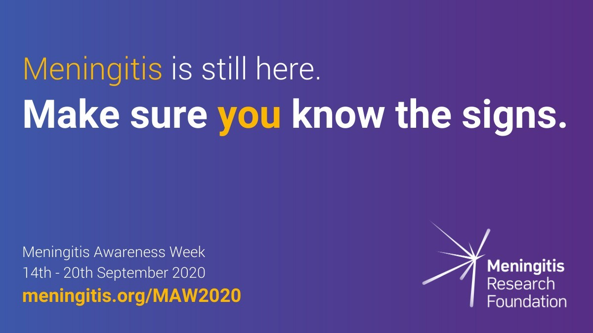 Meningitis Awareness Week 2020