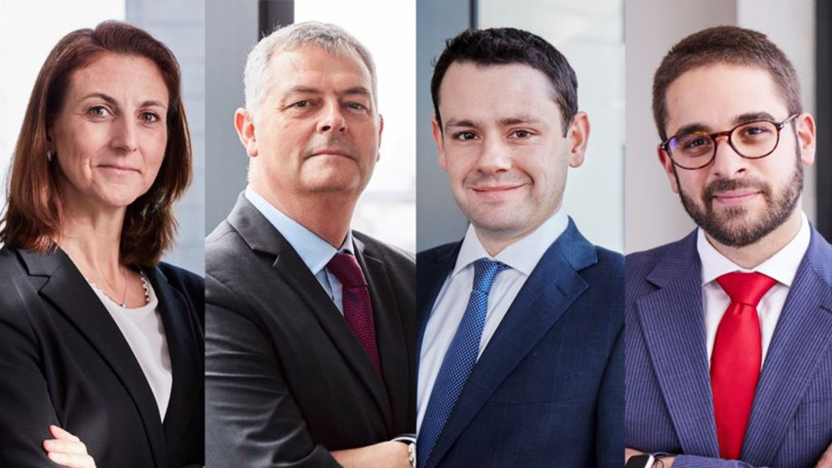 Fiona Gillett, Ian Gatt QC, Joe Mitchell and Aleks Valkov