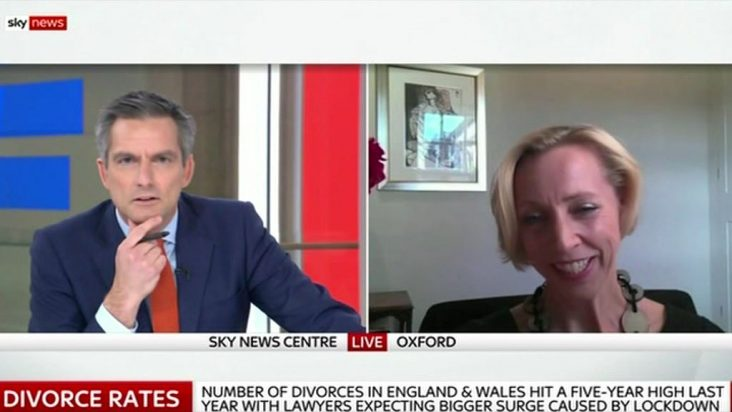 Emma Hatley speaks to Sky News on why divorce rates have increased during the 2020 Covid-19 pandemic