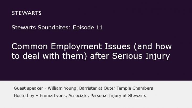 Common Employment Issues (and how to deal with them) after Serious Injury