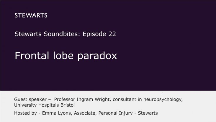 The Frontal Lobe Paradox: a discussion with Professor Ingram Wright, Consultant Neuropsychologist