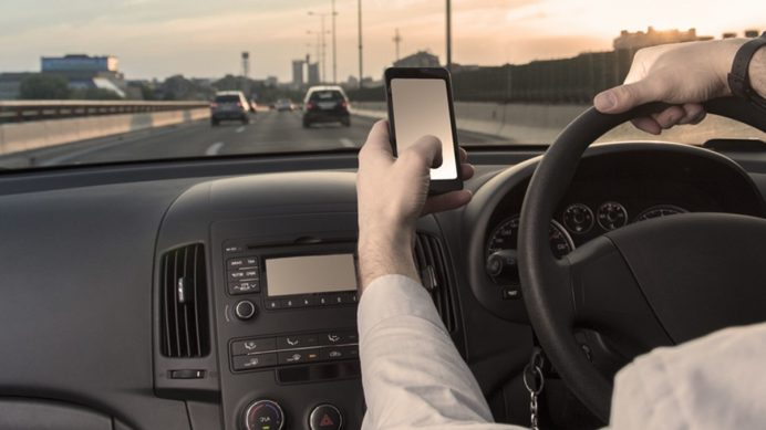 driving while on mobile phone