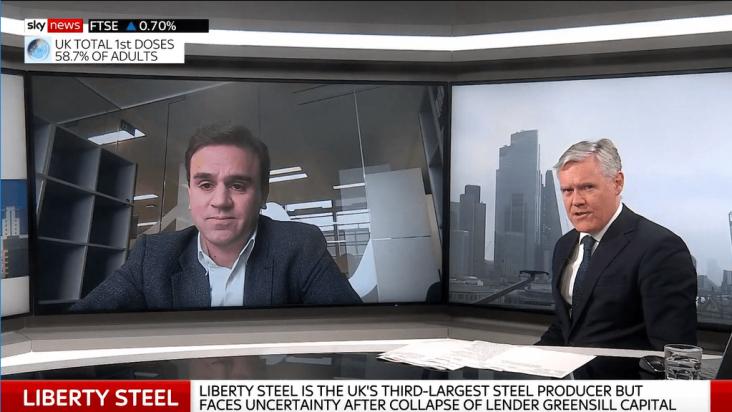 Alex Jay speaks to Sky News - Liberty Steel