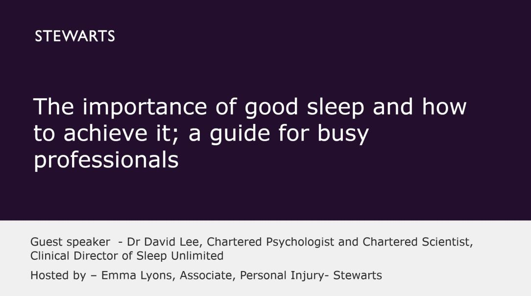 Dr David Lee, Clinical Director of Sleep Unlimited