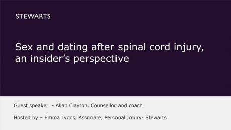 Sex and dating after spinal cord injury, an insider's perspective - Allan Clayton