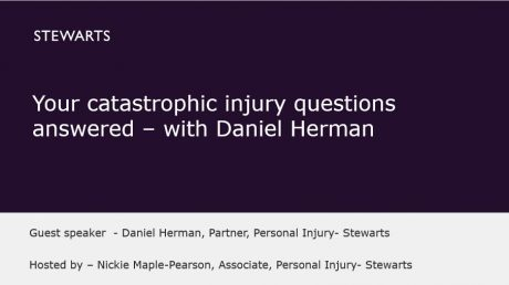 Your catastrophic injury questions answered – with Daniel Herman